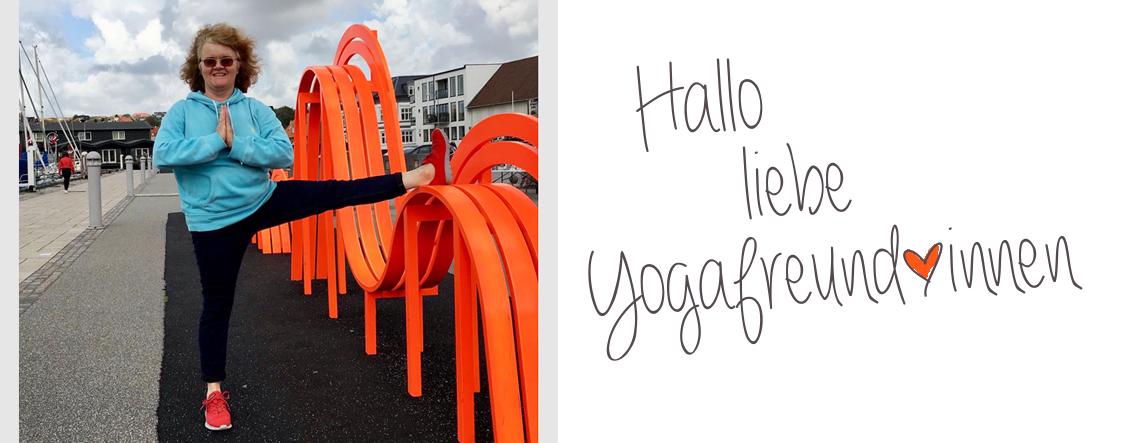 Kirsten macht Yoga in Lemvig, Dänemark